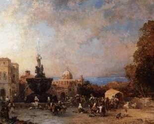 A Market in Naples — Франц Рихард Унтербергер