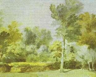 Луг, окруженный деревьями — Антонис ван Дейк