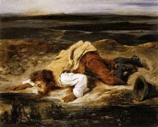 Смертельно раненный вор утоляет жажду — Эжен Делакруа