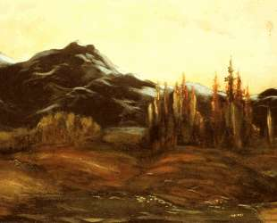 Горный пейзаж с воздушным шаром — Гюстав Доре