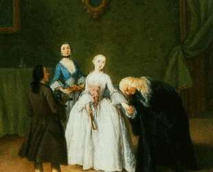 Дворянин целует даме руку — Пьетро Лонги