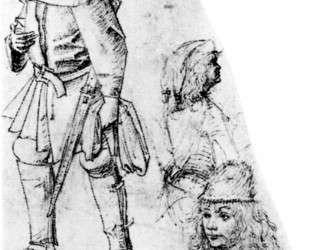Крестьянин и три бюста — Иероним Босх