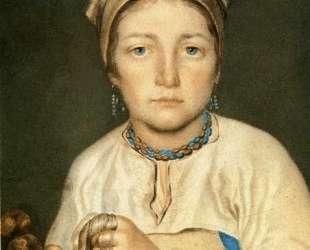 A Peasant Woman, Combing Flax (Anisia) — Алексей Венецианов