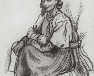 Крестьянка с ребенком — Зинаида Серебрякова