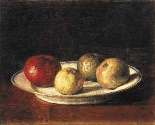 A Plate of Apples — Анри Фантен-Латур