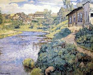 A Provincial Town on a River — Николай Богданов-Бельский