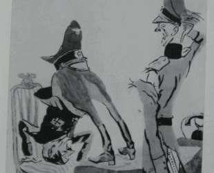 На приеме у бесноватого главнокомандующего (Окно ТАСС №899) — Кукрыниксы