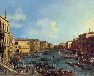 A Regatta on the Grand Canal — Каналетто
