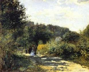 A Road in Louveciennes — Пьер Огюст Ренуар