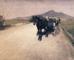 A Road in Naples — Гюстав Кайботт