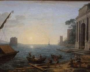 A Seaport at Sunrise — Клод Лоррен