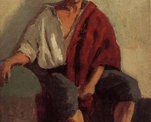 Сидящий итальянец — Камиль Коро