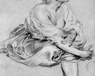 A Seated Woman — Антуан Ватто