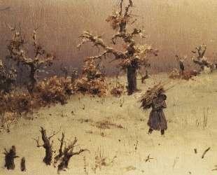 Солдат с вязанкой дров — Василий Поленов