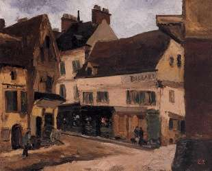 A Square in La Roche Guyon — Камиль Писсарро