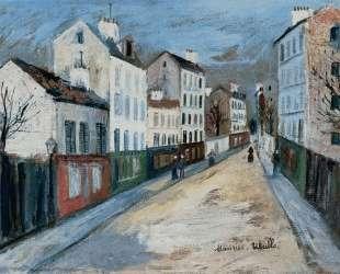 A Street in a Suburb of Paris — Морис Утрилло