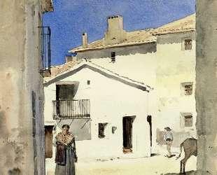 A Street in Denia, Spain — Чайльд Гассам