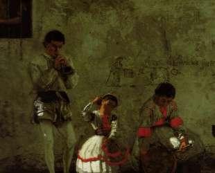 A Street Scene in Sevilla — Томас Икинс