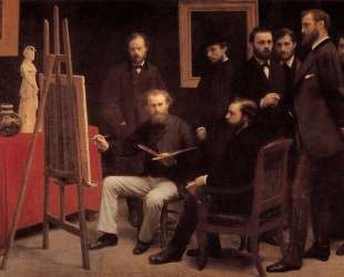 A Studio in the Batignolles (Homage to Manet) — Анри Фантен-Латур