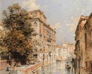 A View in Venice, Rio S. Marina — Франц Рихард Унтербергер