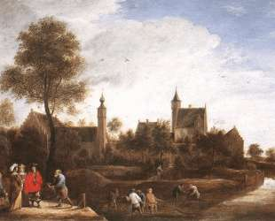 A View of Het Sterckshof near Antwerp — Давид Тенирс Младший