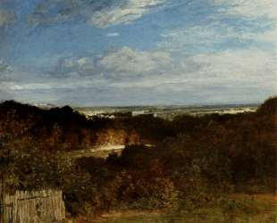 A View Towards The Seine From Suresnes — Констан Труайон