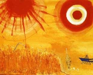 A wheatfield on a summer's afternoon — Марк Шагал