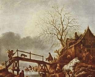A Winter Scene — Исаак ван Остаде