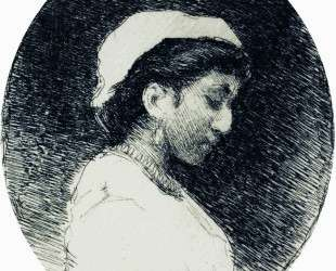Женщина в чепце — Илья Репин