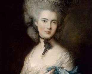 A Woman in Blue (Portrait of the Duchess of Beaufort) — Томас Гейнсборо