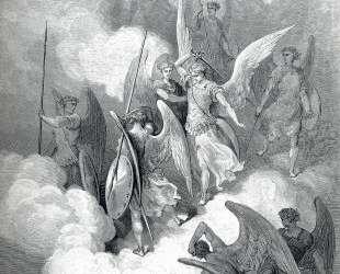 Абдиель и сатана. Иллюстрация к поэме Джона Мильтона 'Потерянный рай' — Гюстав Доре