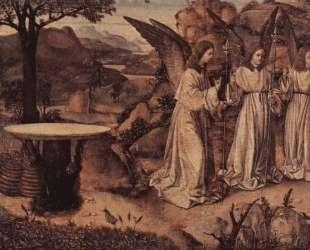 Авраам и три ангела — Антонелло да Мессина