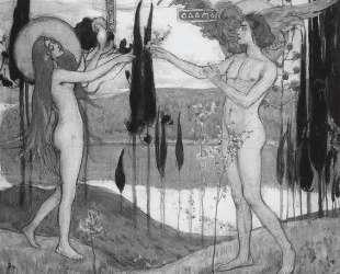 Адам и Ева — Михаил Нестеров