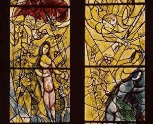 Адам и Ева изгнаны из Рая — Марк Шагал