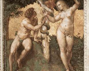 Adam and Eve, from the 'Stanza della Segnatura' — Рафаэль Санти
