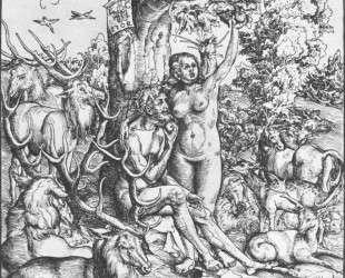 Адам и Ева в Раю — Лукас Кранах Старший
