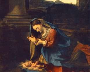 Поклонение младенцу Христу — Корреджо