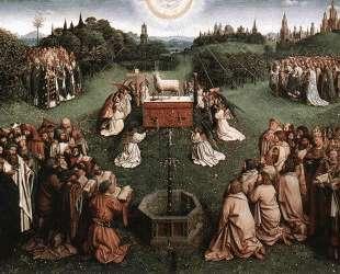 Поклонение агнцу — Ян ван Эйк