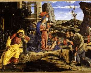 Adoration of the Shepherds — Андреа Мантенья