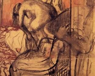 После купания — Эдгар Дега