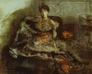 After the Concert Portrait of Nadezhda Zabela — Михаил Врубель