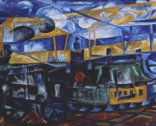 Airplane over train — Наталья Гончарова