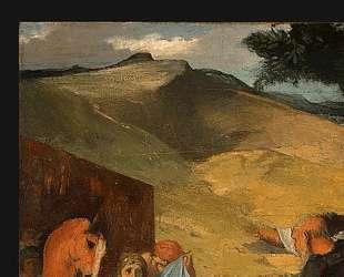 Александр и Буцефал (деталь) — Эдгар Дега