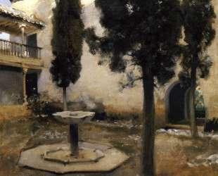 Alhambra, Patio de la Reja — Джон Сингер Сарджент