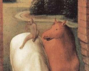 Аллегорическая репрезентация двух лошадей и обезьяны — Ганс Мемлинг