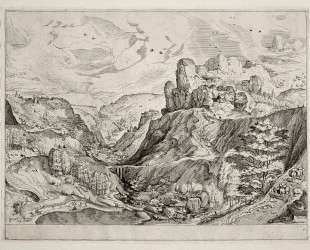 Альпийский пейзаж — Питер Брейгель Старший