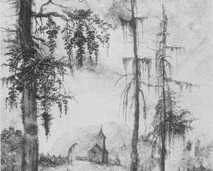 Альпийский пейзаж с церковью — Альбрехт Альтдорфер