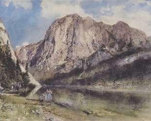 Altausseersee with Trisselwand — Рудольф фон Альт