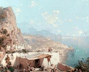Amalfi, The Gulf Of Salerno — Франц Рихард Унтербергер