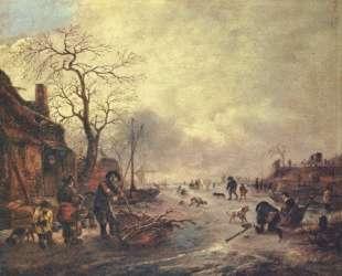 Amusement on the Ice — Исаак ван Остаде